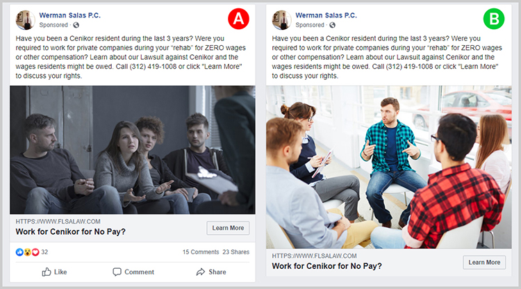Facebook Ad Law Firm
